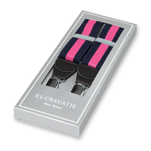 Mens braces striped navy/pink (1)