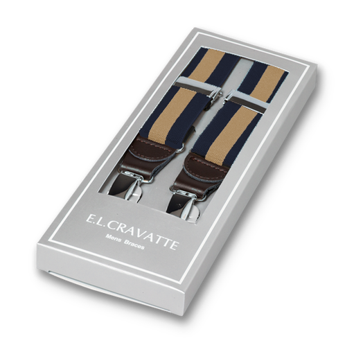Navy-Beige Striped Braces for Men (1)