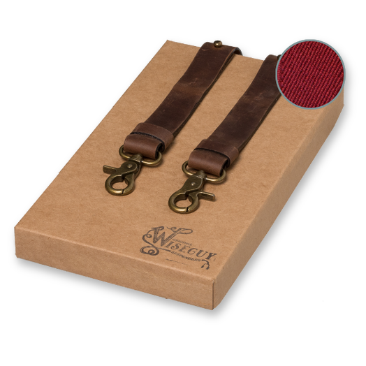Wiseguy Suspenders - Crazy Horse Flex - Dark Brown (1)