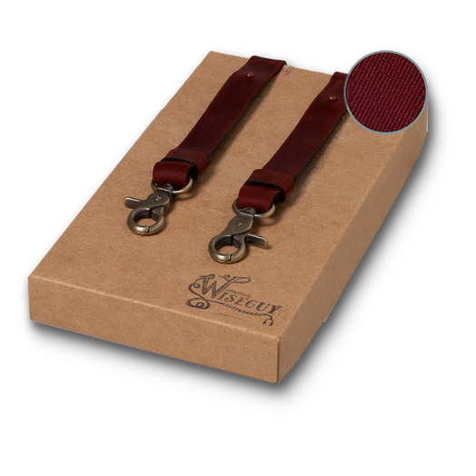 Wiseguy Suspenders - Crazy Horse Flex - Oxblood (1)