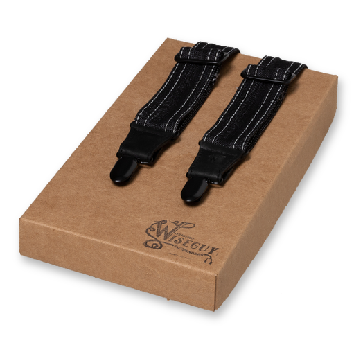 Wiseguy Suspenders - Black Denim - Amsterdenim  (1)