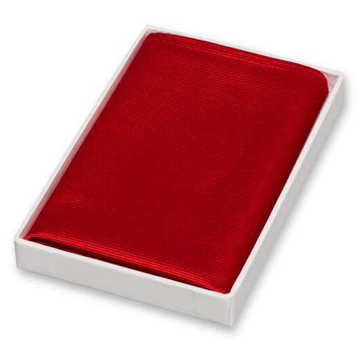 Bright Red Pocket Square - Silk (1)