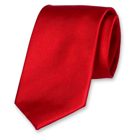 Bright Red Tie - Silk (1)