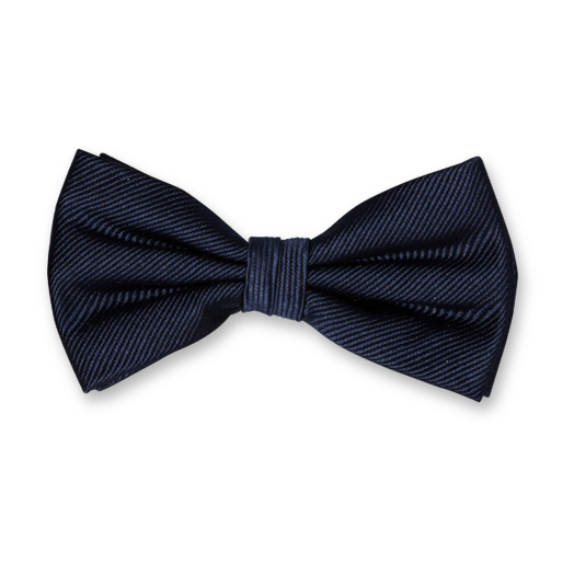 Dark Blue Bow Tie - Silk (1)
