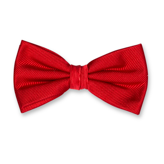 Bright Red Bow Tie - Silk (1)