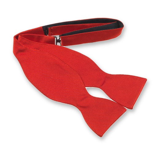 Bright Red Self-Tie Bow Tie - Silk (1)