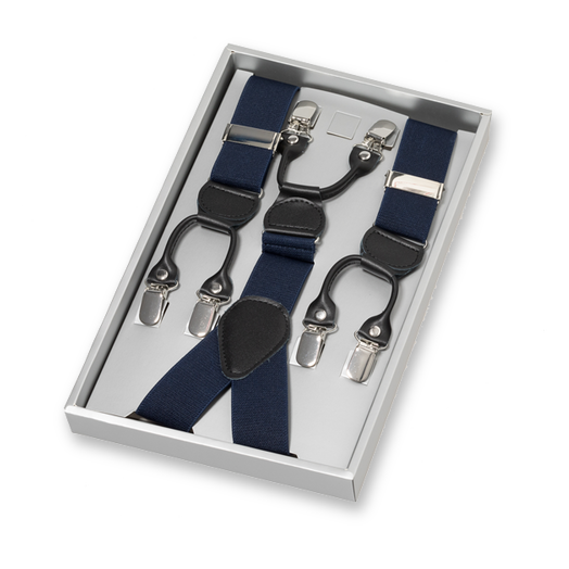 Dark Blue Braces for Men with Clips (1)