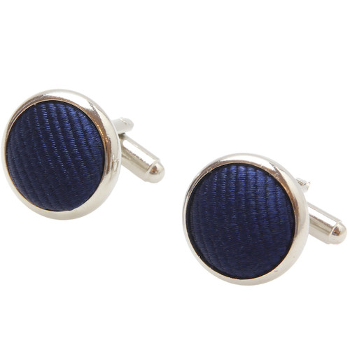 Dark Blue Cufflinks - Silk (1)
