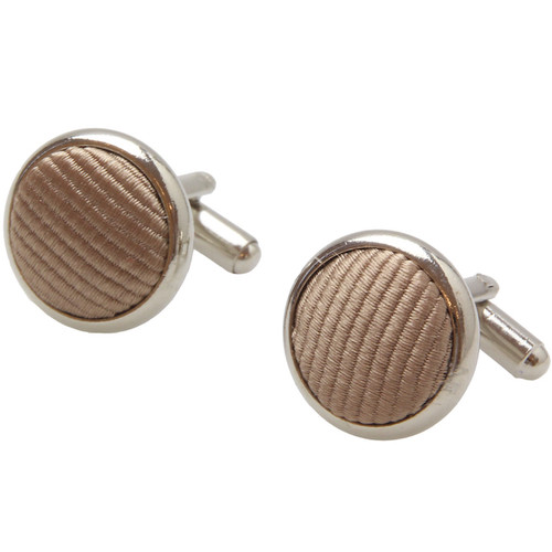 Beige Cufflinks - Silk (1)